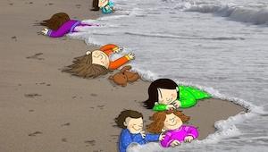 16 fotos conmovedoras en homenaje a un niño sirio fallecido.