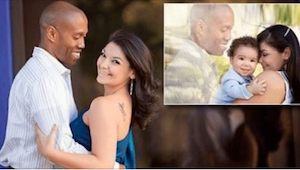 Su marido murió antes de nacer su hijo pero a pesar de eso... ¡tienen una foto l