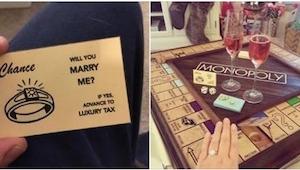 ¡Cuánto esfuerzo puso este hombre para proponer matrimonio es digno de admiració