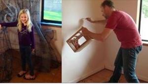 Tardó un año y medio en hacer la habitación de su hijita. ¡El efecto es realment