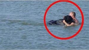 Vio a un oso ahogándose, pues... ¡hizo algo increíble!
