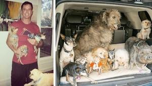 Este hombre adopta perros ancianos sin hogar. ¡Su casa se ve increíble!