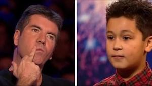 ¡El chiquillo tenía lágrimas en los ojos cuando Simon paró su actuación y le di