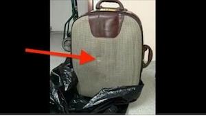 Alguien tiró una maleta a la basura. Ahora toda la ciudad busca a esta persona p
