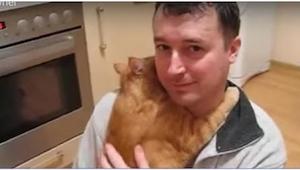 ¡Lo que hace este gatito contradice cualquier mito sobre estos animales!