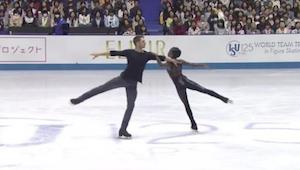 ¡Cuando la pareja de patinadores empezó su actuación y pusieron Sound Of Silence