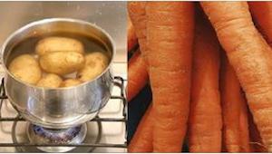 ¡Desde hoy voy a cocer patatas junto con una zanahoria! ¡Qué pena que no lo supi