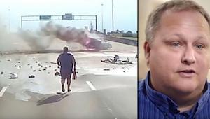 Un conductor de camión vio un terrible accidente y quiso ayudar, ¡lo que grabó s